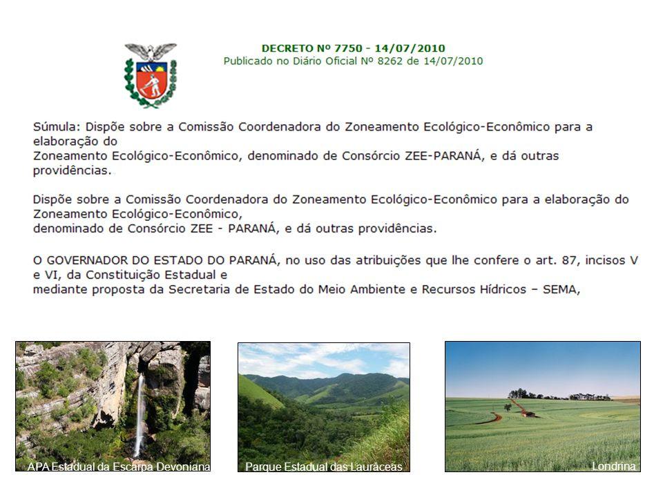 APA Estadual da Escarpa Devoniana Parque Estadual das Lauráceas Londrina