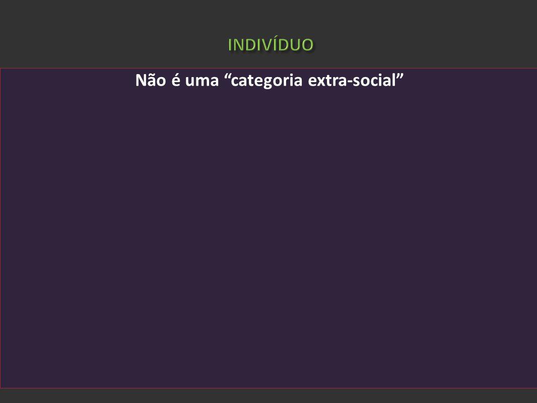 ADORNO, Theodor W.; GÖDDE, Cristoph. Introdução à sociologia (1968). São Paulo: Ed. UNESP, 2008 Não é uma categoria extra-social