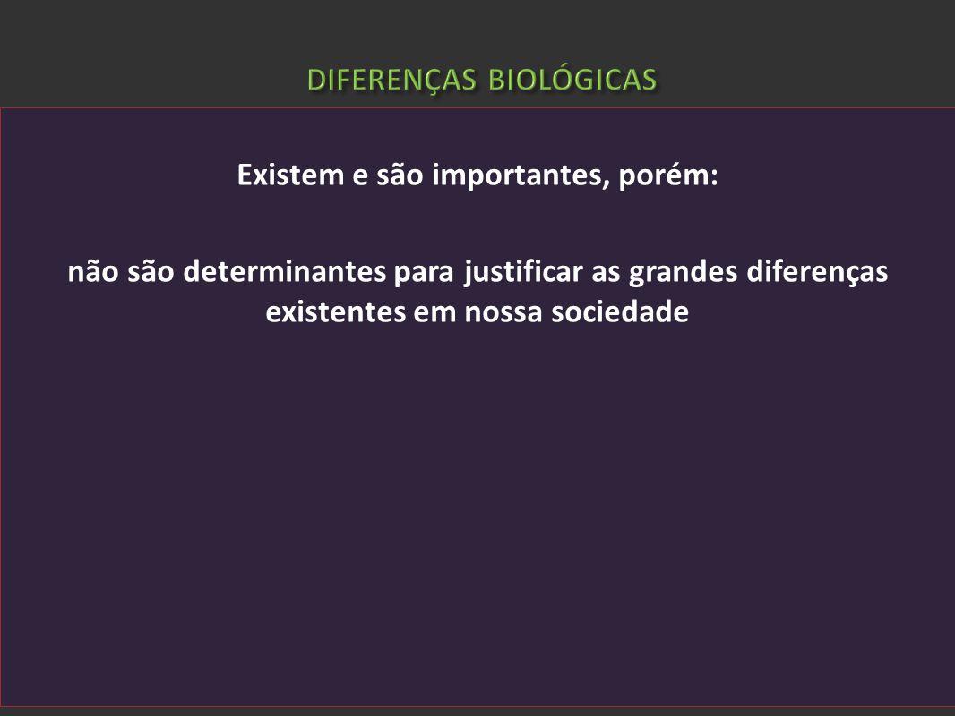 Existem e são importantes, porém: não são determinantes para justificar as grandes diferenças existentes em nossa sociedade