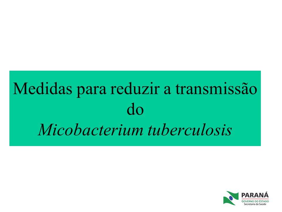 Medidas para reduzir a transmissão do Micobacterium tuberculosis