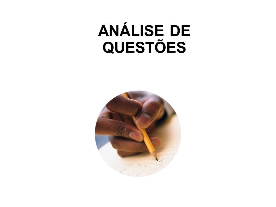 ANÁLISE DE QUESTÕES