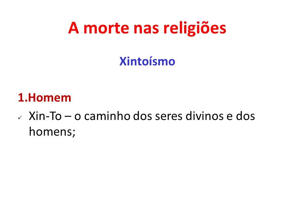 A morte nas religiões Xintoísmo 1.Homem Xin-To – o caminho dos seres divinos e dos homens;