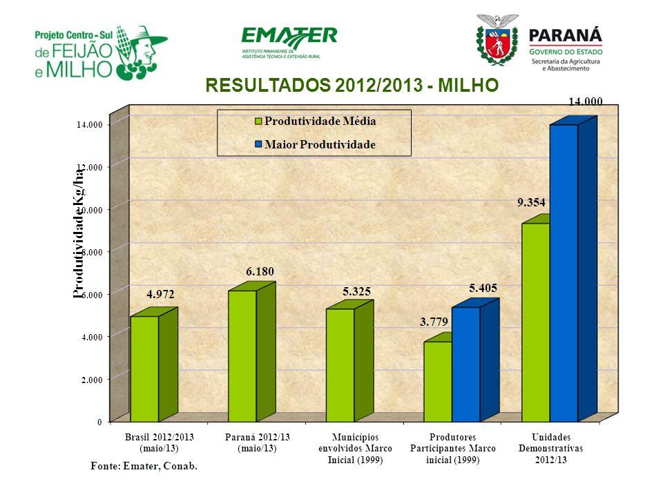 RESULTADOS 2012/2013 - MILHO