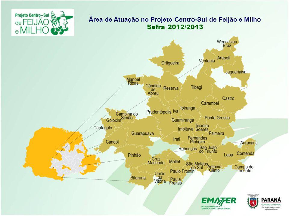 Área de Atuação no Projeto Centro-Sul de Feijão e Milho Safra 2012/2013
