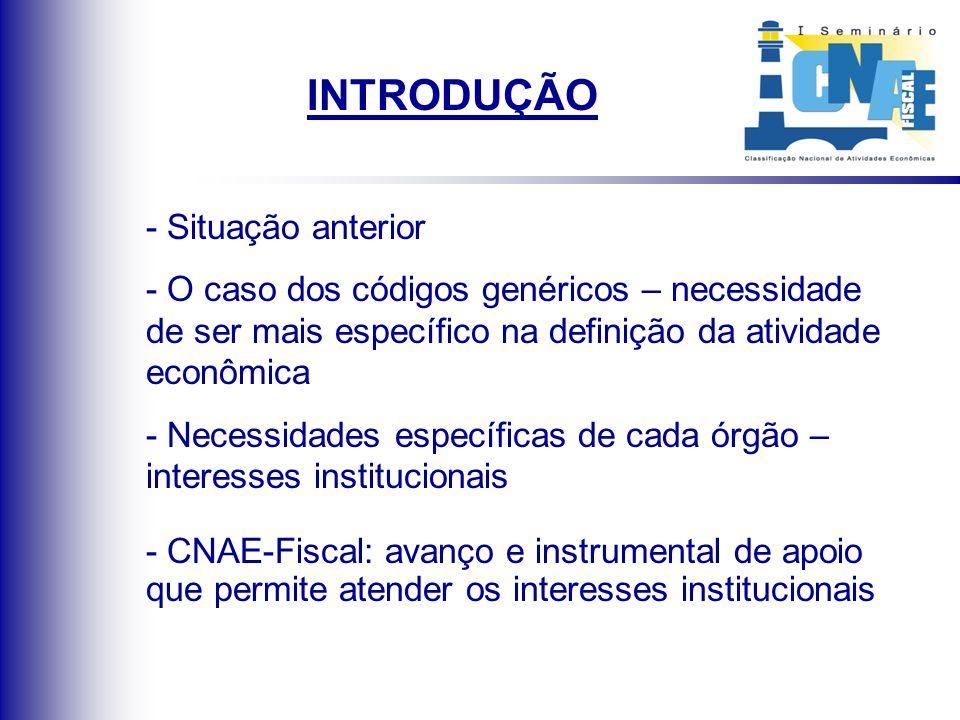 A CNAE-Fiscal na Secretaria de Finanças de Belo Horizonte Início do Processo: junho de 1999 Data de implantação: 16/05/2000 Durante o processo de implantação da CNAE- Fiscal, foi-nos permitido Ter consciência das limitações Apuro técnico Processo de implantação desenvolvido por toda equipe da Secretaria de Finanças