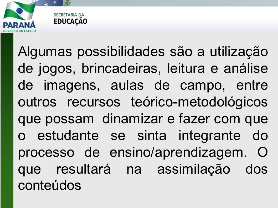 Algumas possibilidades são a utilização de jogos, brincadeiras, leitura e análise de imagens, aulas de campo, entre outros recursos teórico-metodológi