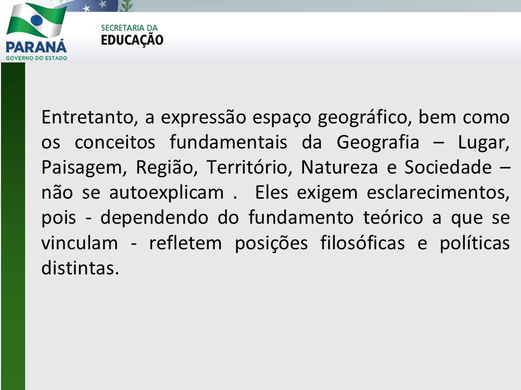 Propõe-se um trabalho que vise à superação da dicotomia entre Geografia Física e Geografia Humana.