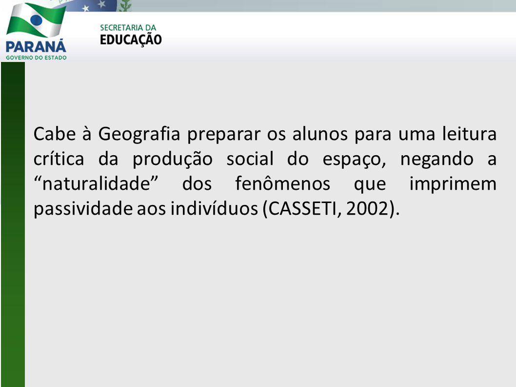 Organização da Oficina: Retomada das DCE Geografia.
