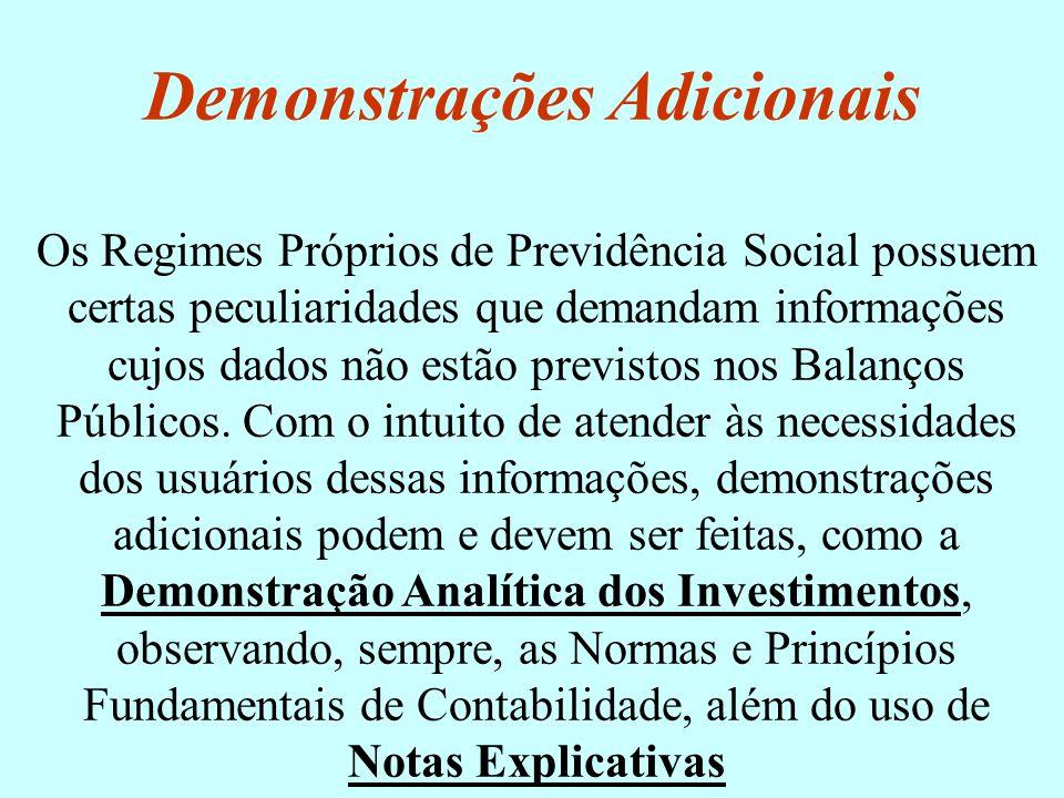 Os Regimes Próprios de Previdência Social possuem certas peculiaridades que demandam informações cujos dados não estão previstos nos Balanços Públicos