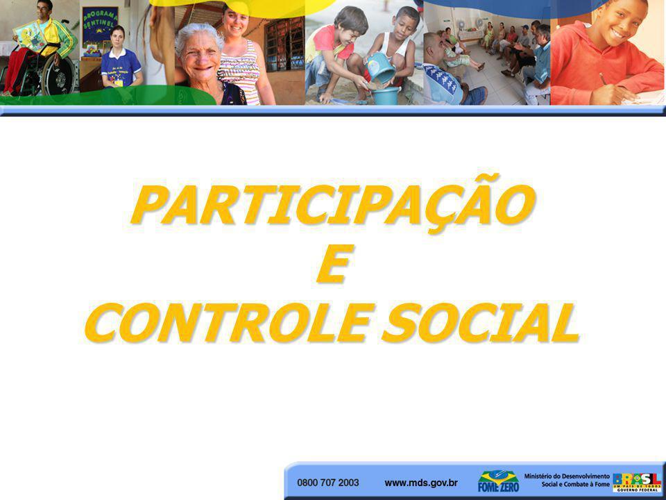 PARTICIPAÇÃOE CONTROLE SOCIAL