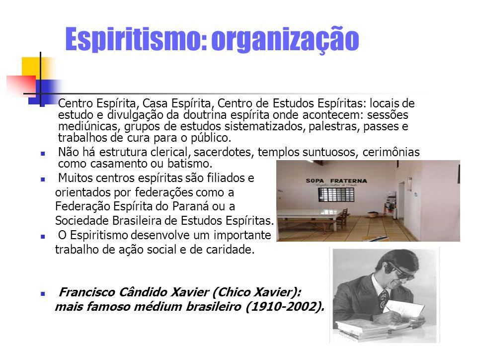 Espiritismo: organização Centro Espírita, Casa Espírita, Centro de Estudos Espíritas: locais de estudo e divulgação da doutrina espírita onde acontece