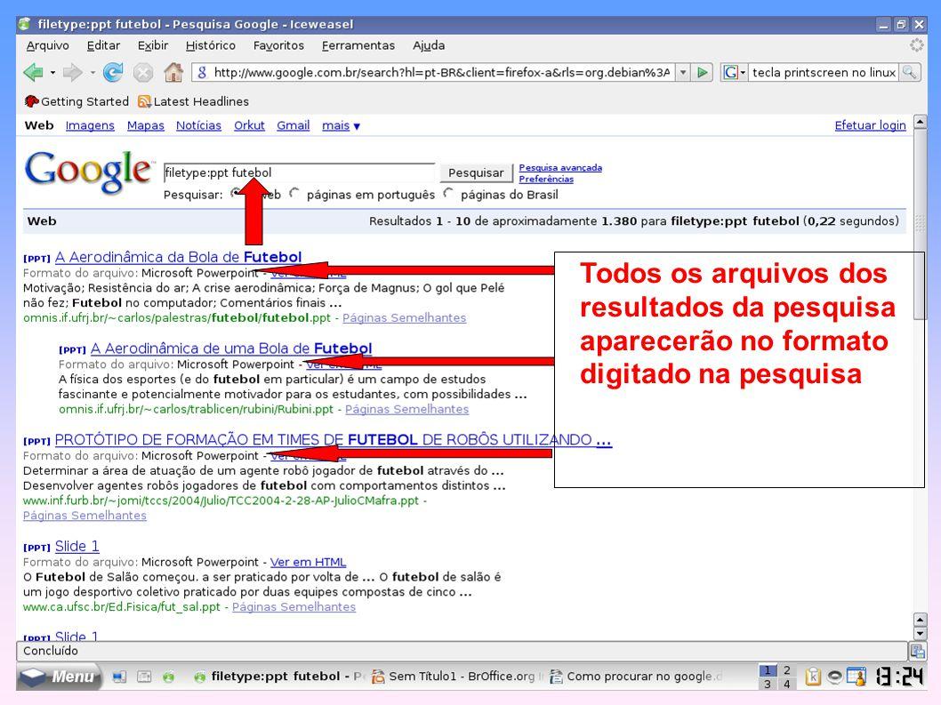 Selecione os idiomas de sua pesquisa