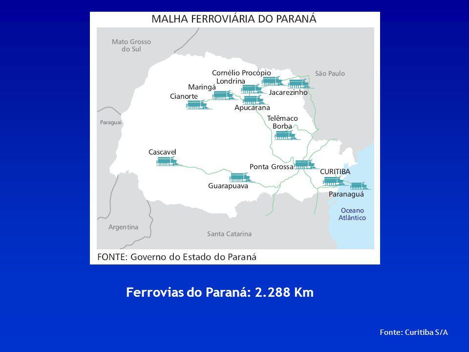 Fonte: Curitiba S/A Antonina: localizado na baía de Paranaguá, a 77 Km de Curitiba.