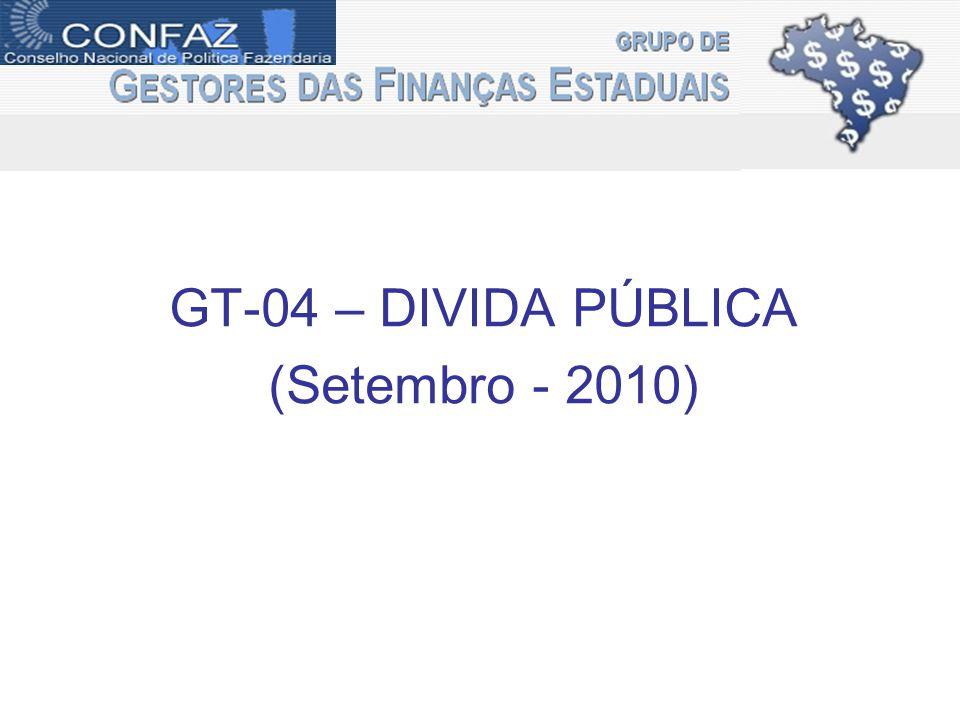 GT-04 – DIVIDA PÚBLICA (Setembro - 2010)