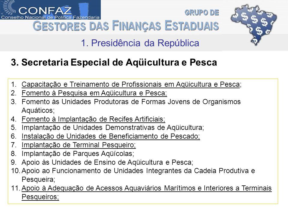 1. Presidência da República 3.