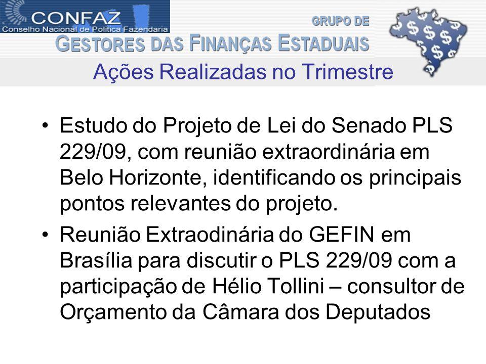 Estudo do Projeto de Lei do Senado PLS 229/09, com reunião extraordinária em Belo Horizonte, identificando os principais pontos relevantes do projeto.