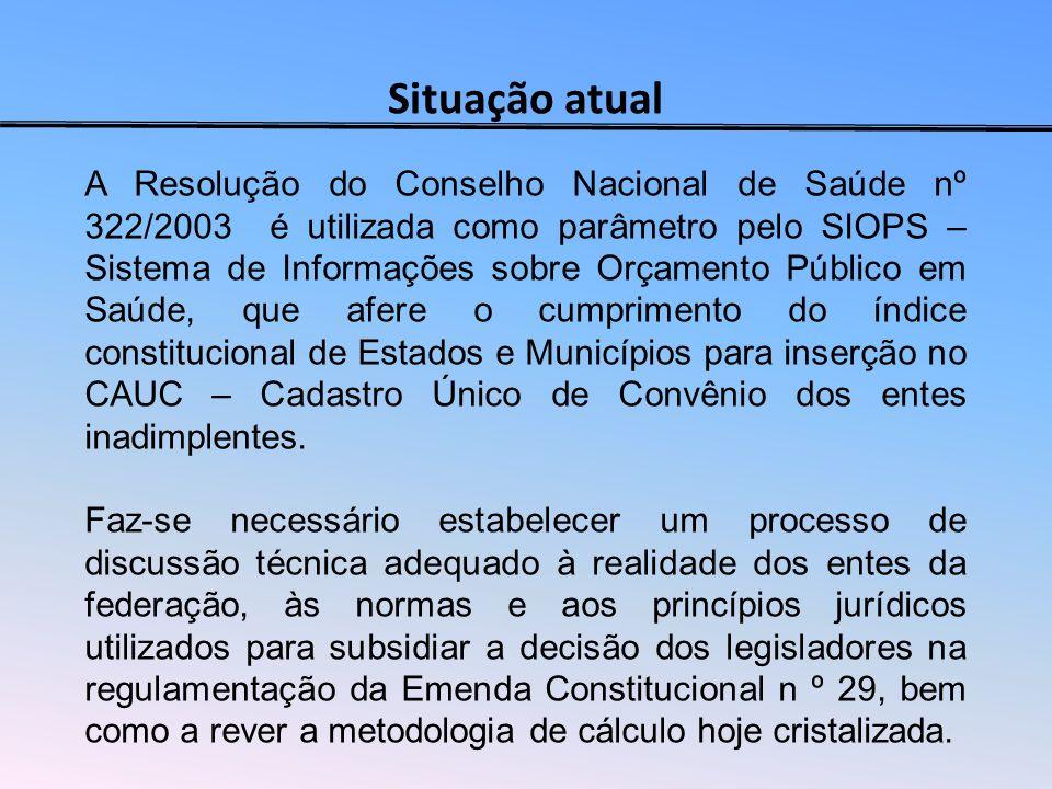PROPOSTA DE REFORMULAÇÃO DA RECEITA BASE PARA CÁLCULO DO INDICE Art.