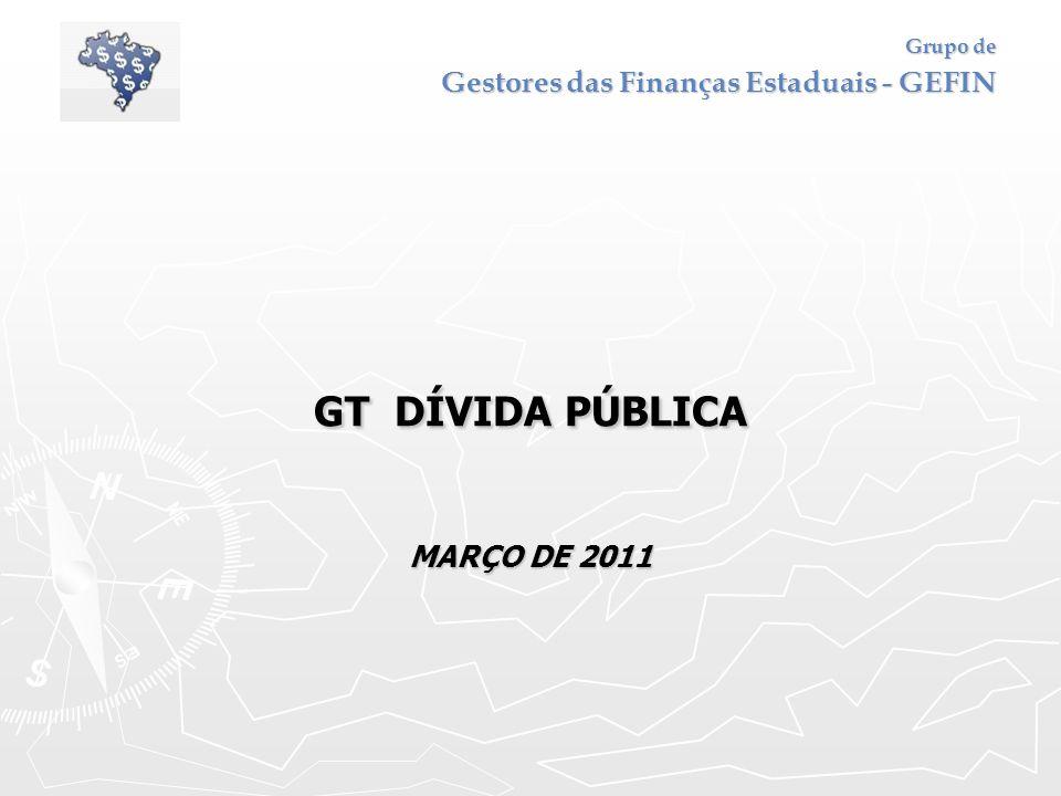 Grupo de Gestores das Finanças Estaduais - GEFIN GT DÍVIDA PÚBLICA MARÇO DE 2011