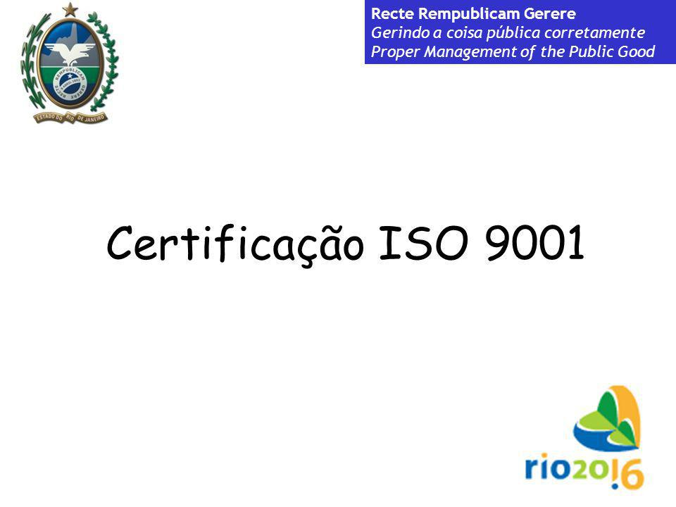 Recte Rempublicam Gerere Gerindo a coisa pública corretamente Proper Management of the Public Good Certificação ISO 9001 Recte Rempublicam Gerere Geri