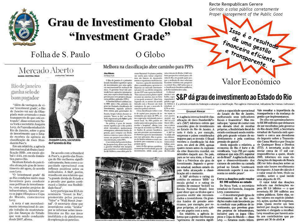 Recte Rempublicam Gerere Gerindo a coisa pública corretamente Proper Management of the Public Good Folha de S. PauloO Globo Valor Econômico Grau de In