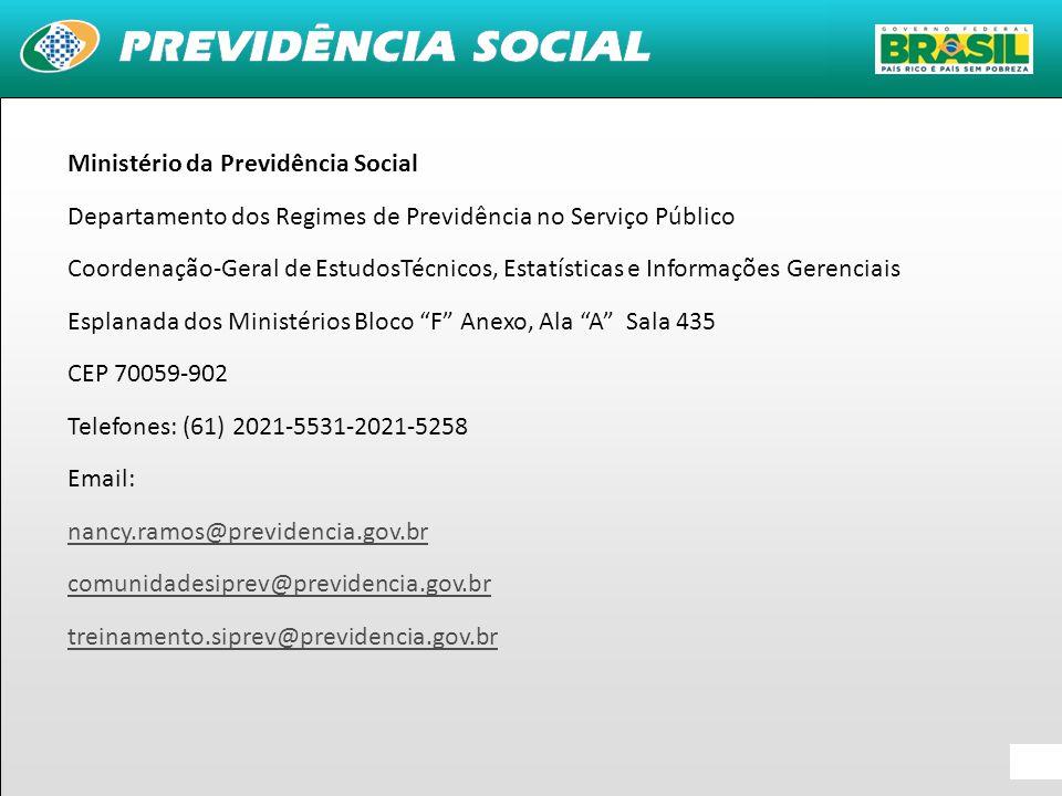 35 Ministério da Previdência Social Departamento dos Regimes de Previdência no Serviço Público Coordenação-Geral de EstudosTécnicos, Estatísticas e In