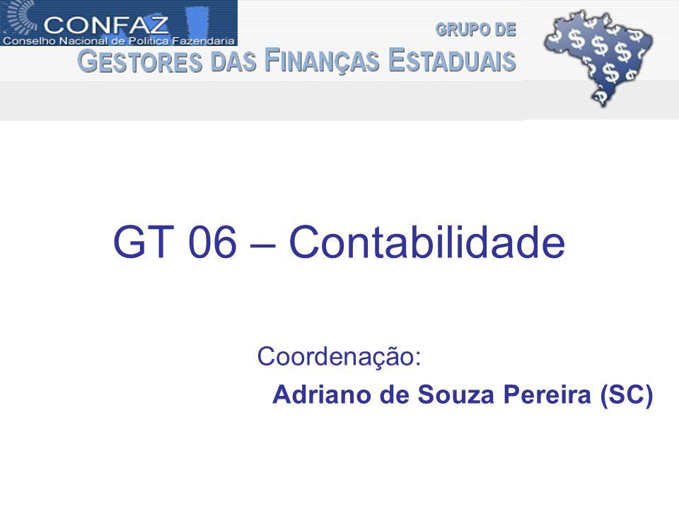 GT 06 – Contabilidade Coordenação: Adriano de Souza Pereira (SC)