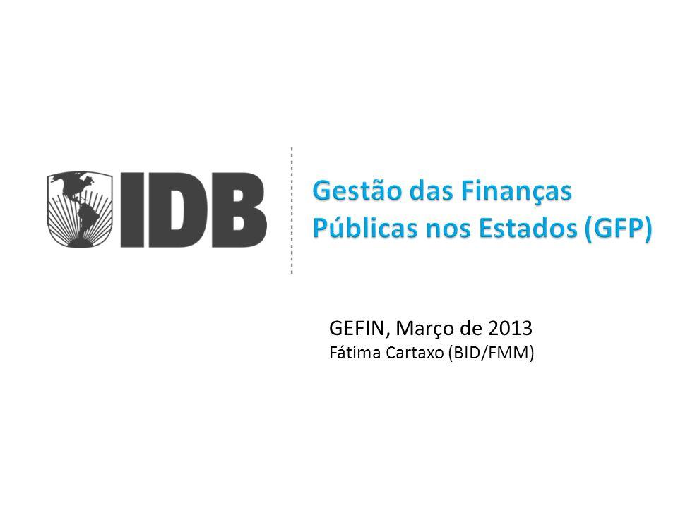 GEFIN, Março de 2013 Fátima Cartaxo (BID/FMM)
