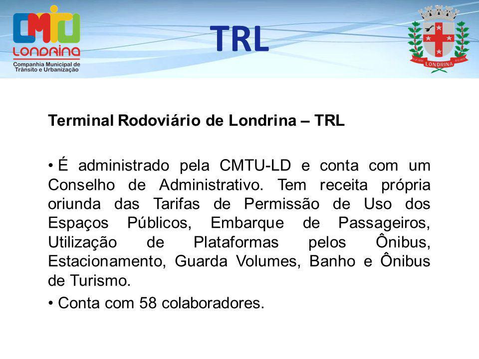 TRL Terminal Rodoviário de Londrina – TRL É administrado pela CMTU-LD e conta com um Conselho de Administrativo. Tem receita própria oriunda das Tarif