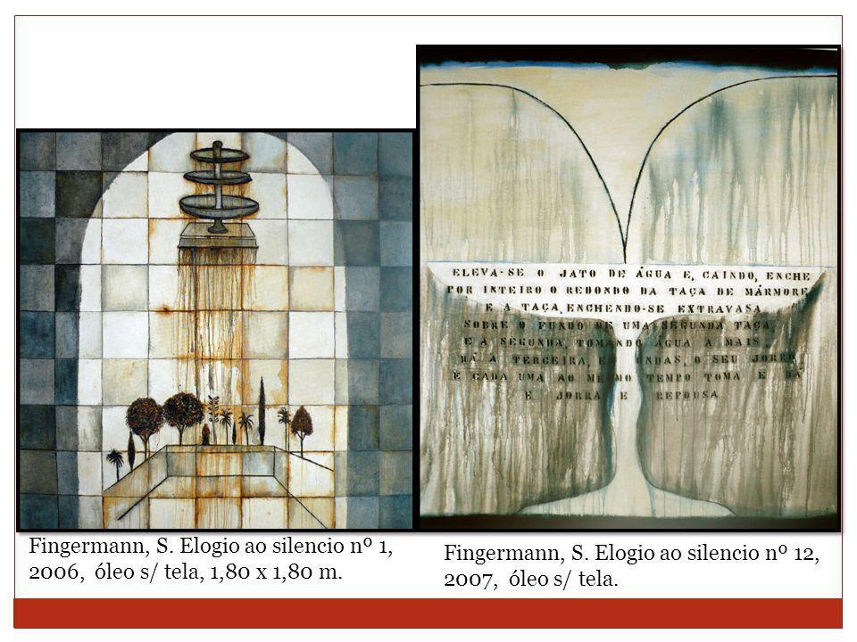 Fingermann, S.Elogio ao silencio nº 1, 2006, óleo s/ tela, 1,80 x 1,80 m.