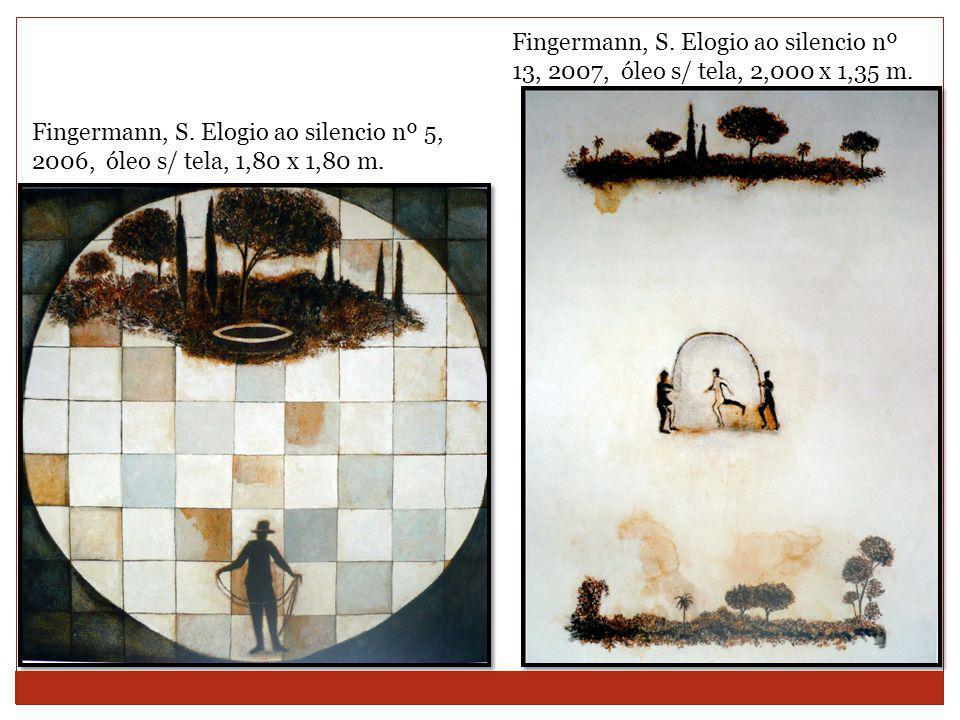 Fingermann, S.Elogio ao silencio nº 13, 2007, óleo s/ tela, 2,000 x 1,35 m.