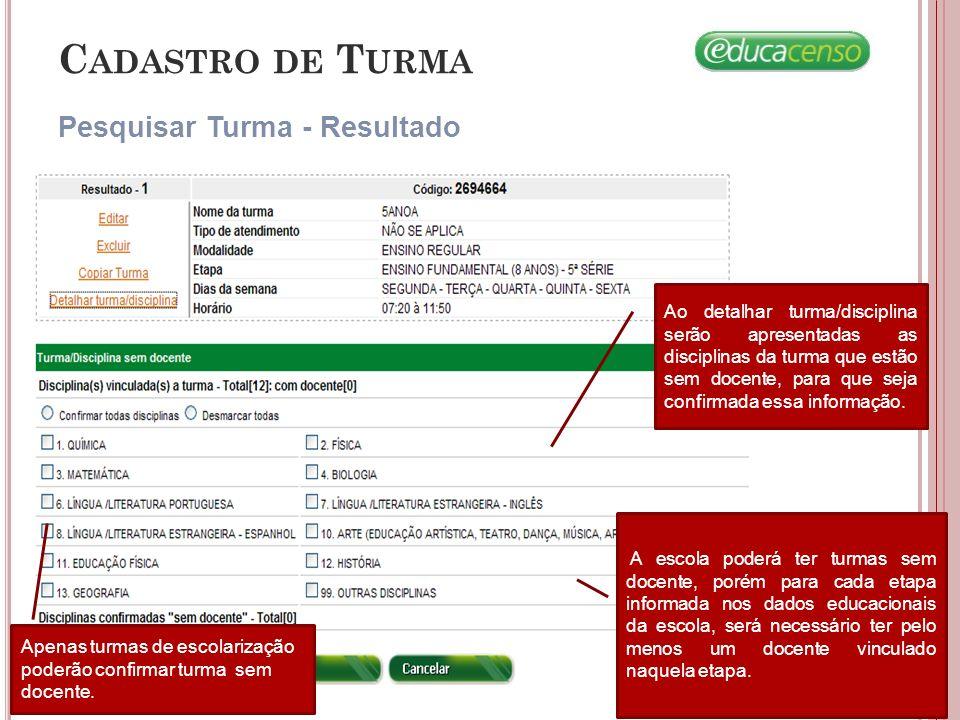 C ADASTRO DE A LUNO Remanejar Aluno/ Admitido Após o Censo