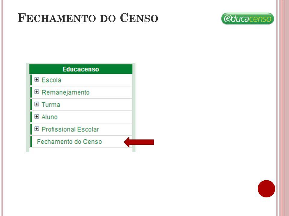 F ECHAMENTO DO C ENSO