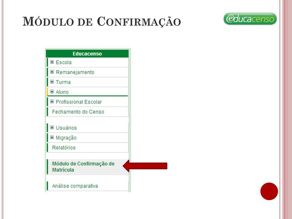 M ÓDULO DE C ONFIRMAÇÃO