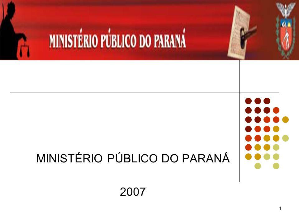 1 MINISTÉRIO PÚBLICO DO PARANÁ 2007