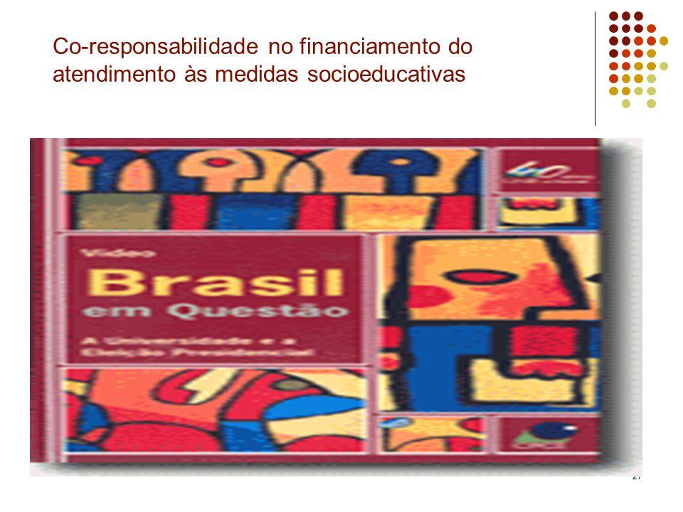 27 Co-responsabilidade no financiamento do atendimento às medidas socioeducativas
