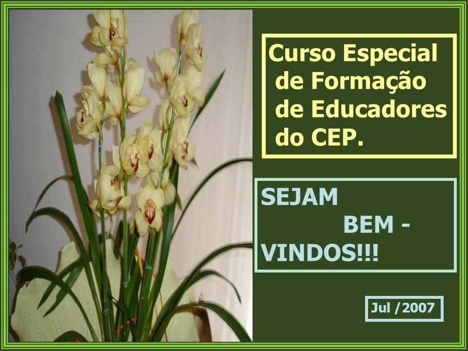 Curso Especial de Formação de Educadores do CEP. SEJAM BEM - VINDOS!!! Jul /2007