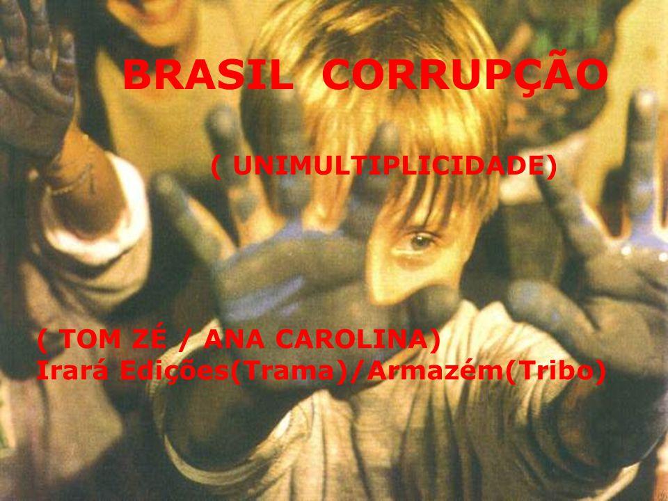 BRASIL CORRUPÇÃO ( UNIMULTIPLICIDADE) ( TOM ZÉ / ANA CAROLINA) Irará Edições(Trama)/Armazém(Tribo)