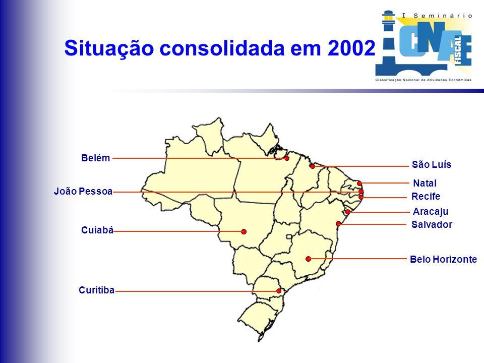 Implantações em 2002 Cuiabá São Luís João Pessoa