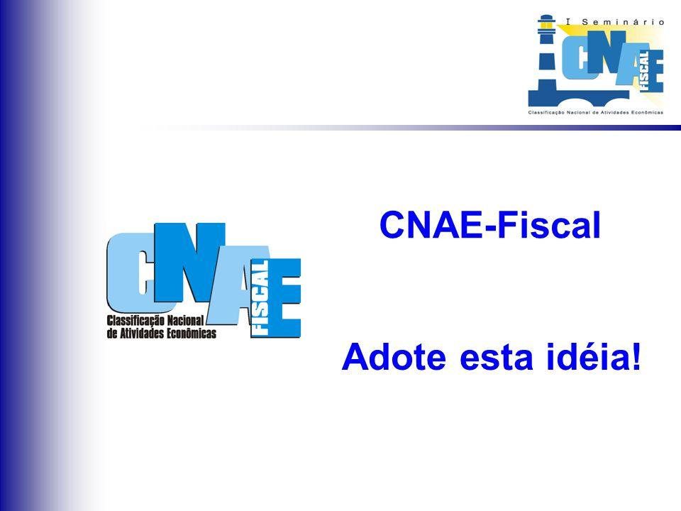 Considerações Finais Padronização Nacional dos Cadastros Adoção da CNAE-Fiscal por todos os órgãos Cadastro Unificado