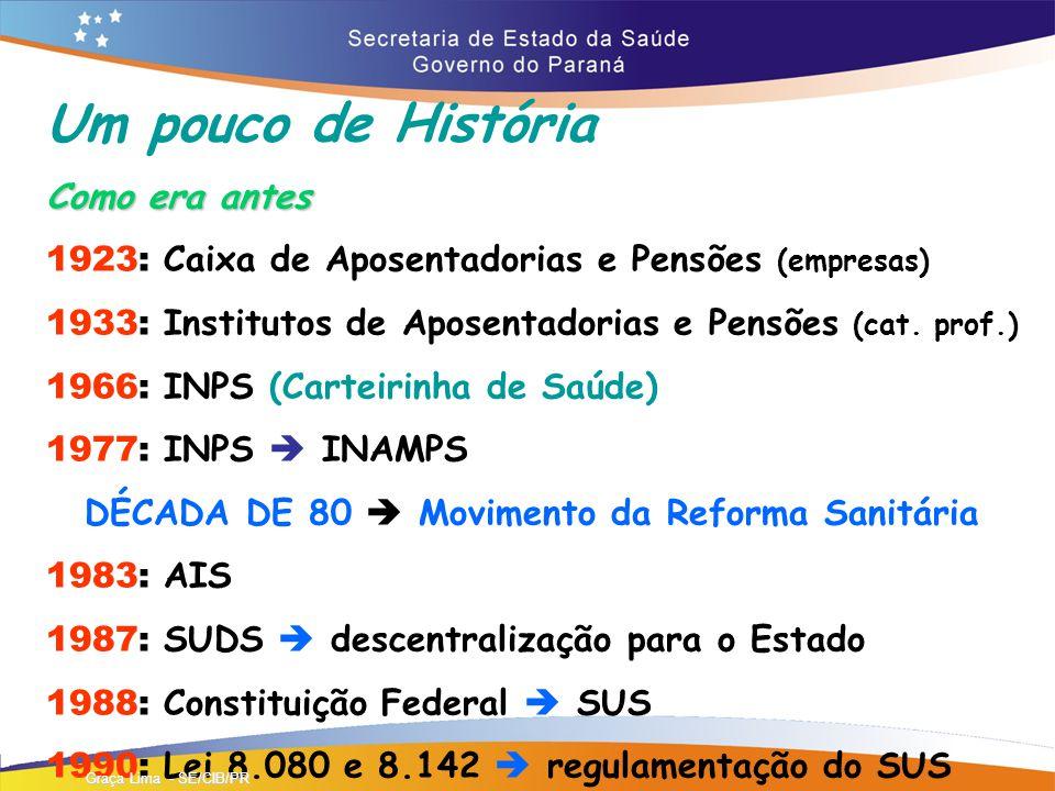 Um pouco de História Como era antes 1923: Caixa de Aposentadorias e Pensões (empresas) 1933: Institutos de Aposentadorias e Pensões (cat.