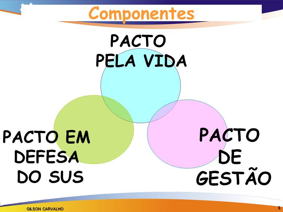 GILSON CARVALHO 8 PACTO PELA VIDA PACTO DE GESTÃO PACTO EM DEFESA DO SUS Componentes