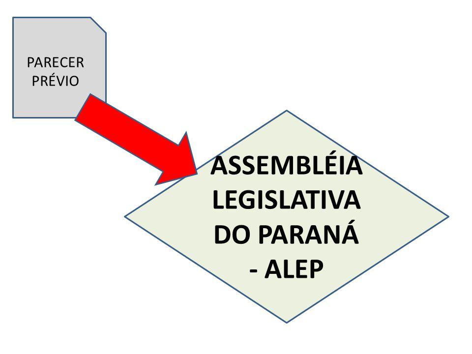 ASSEMBLÉIA LEGISLATIVA DO PARANÁ - ALEP PARECER PRÉVIO