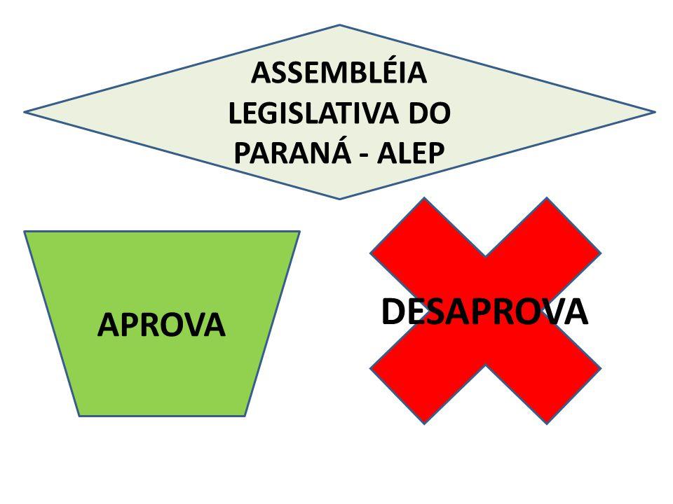 APROVA DESAPROVA ASSEMBLÉIA LEGISLATIVA DO PARANÁ - ALEP