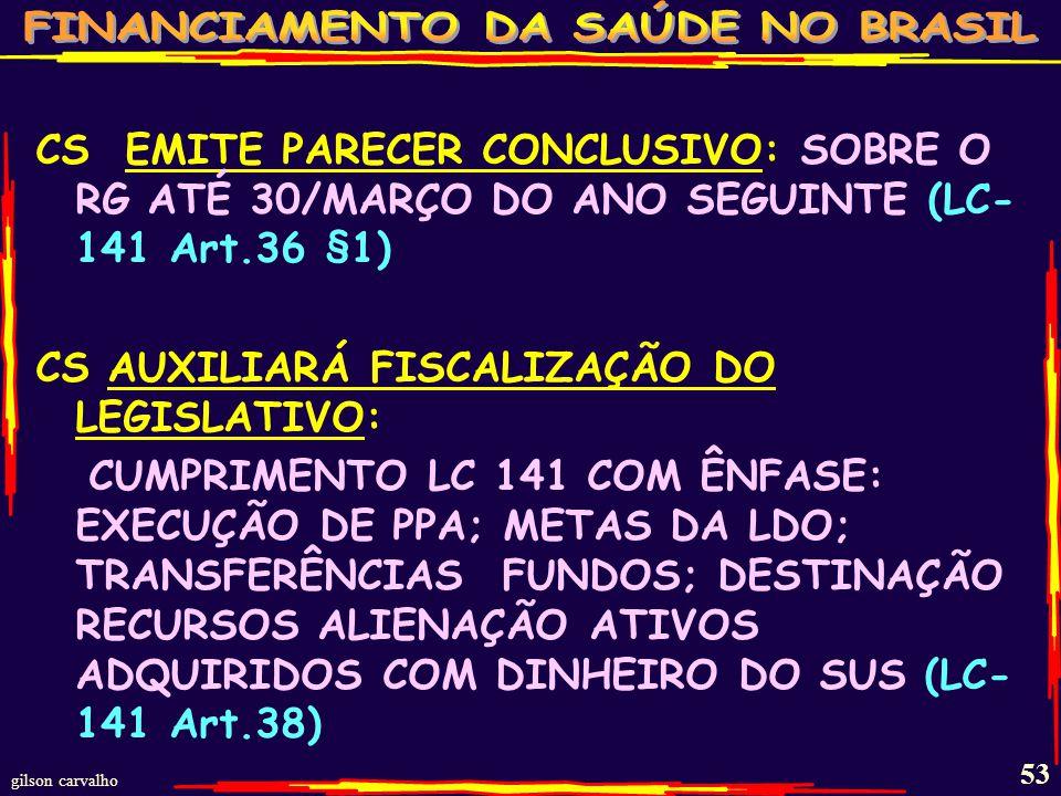 gilson carvalho 52 CS DELIBERA CS-3 ESFERAS DELIBERAM DIRETRIZES DE PRIORIDADES PARA PPA, LDO,LOA E PLANOS APLICAÇÃO.