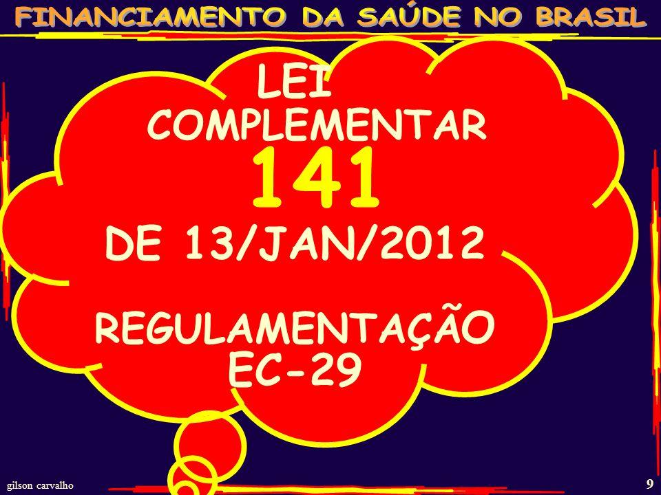 gilson carvalho 8 ESTIMATIVA GASTO SAÚDE BRASIL - 20010 FONTES R$ BI% PP% TOT%PIB FEDERAL 6245211,7 ESTADUAL 3727131,0 MUNICIPAL 3928131,1 TOTAL PÚBLICO 138100473,7 PLANOS SEGUROS 734825 2,0 GASTO DIRETO 25169 0,7 MEDICAMENTOS 553619 1,5 TOTAL PRIVADO 15310053 4,2 TOTAL BRASIL 291100 7,9 FONTE: MS/SPO; MS/SIOPS;ANS;IBGE/POF-2008 – ESTUDOS GC % PP=% PÚBLICO E PRIVADO;% TOT= TOTAL;PIB 2010 3,68 TRI;GASTO DIRETO= PESSOAS PAGANDO DIRETAMENTE OS SERVIÇOS DE SAÚDE.