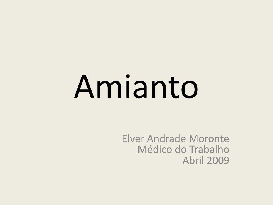 Amianto Elver Andrade Moronte Médico do Trabalho Abril 2009