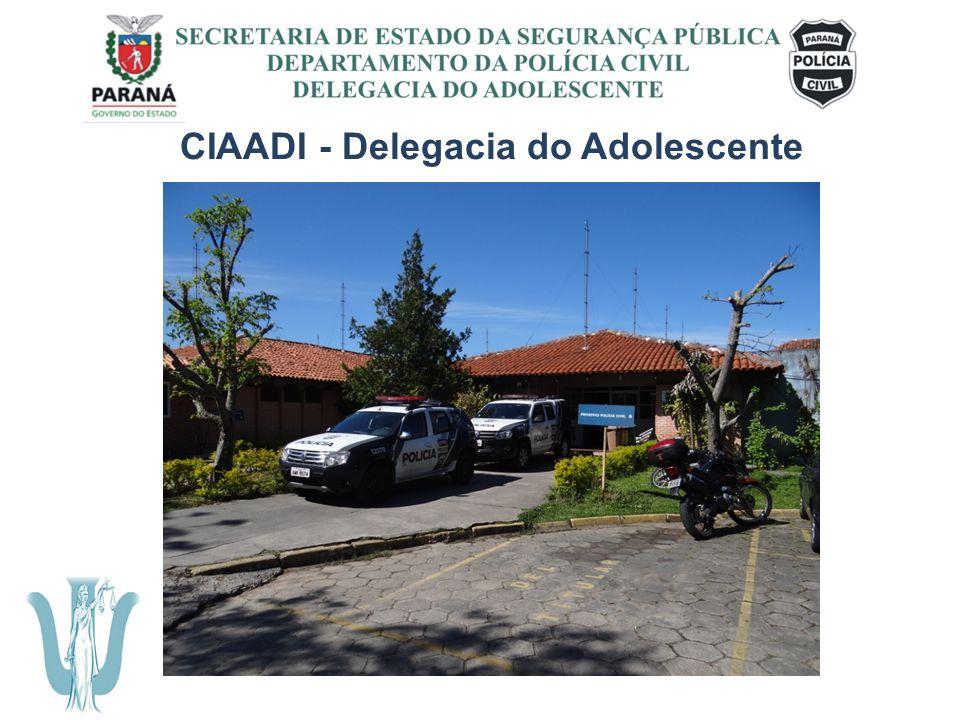 SECRETARIA DE ESTADO DA SEGURANÇA PÚBLICA DEPARTAMENTO DA POLÍCIA CIVIL DELEGACIA DO ADOLESCENTE CIAADI - Delegacia do Adolescente