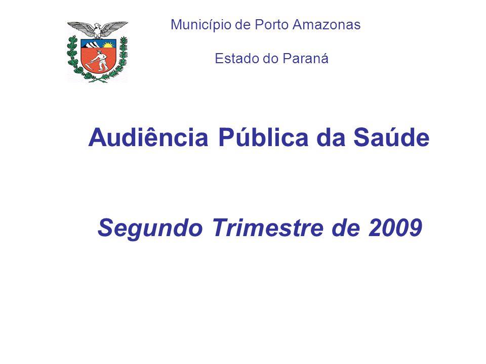 Audiência Pública da Saúde Segundo Trimestre de 2009 Município de Porto Amazonas Estado do Paraná