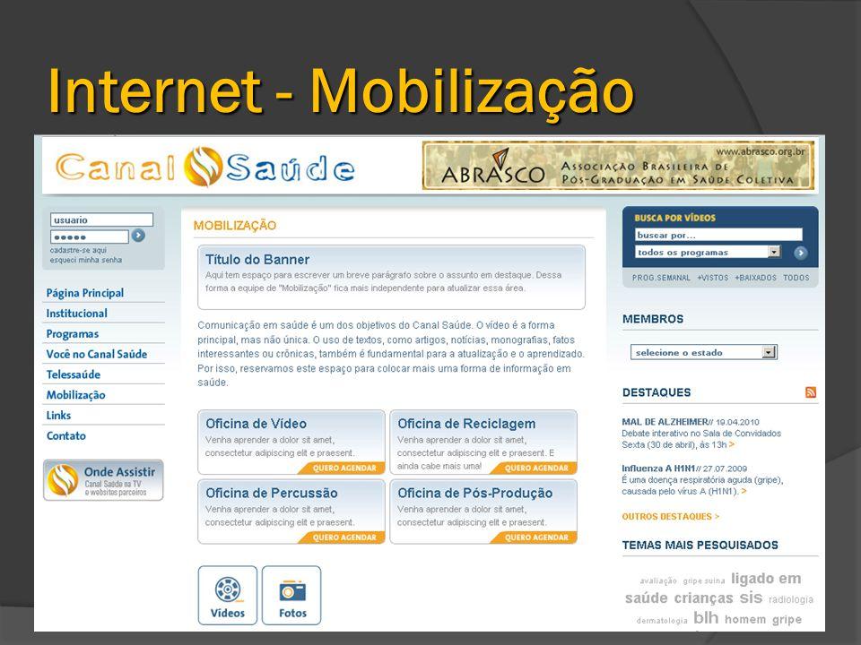 Internet - Mobilização