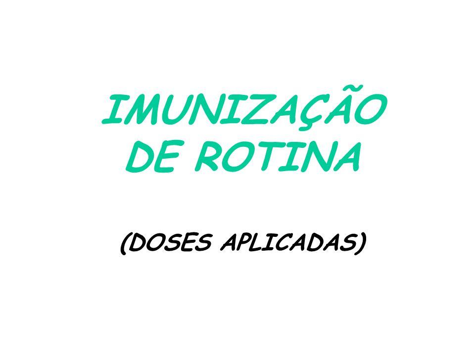IMUNIZAÇÃO DE ROTINA (DOSES APLICADAS)